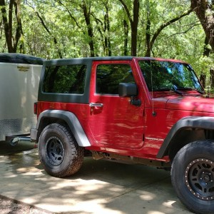 Cooper Lake Jeep And Trailer